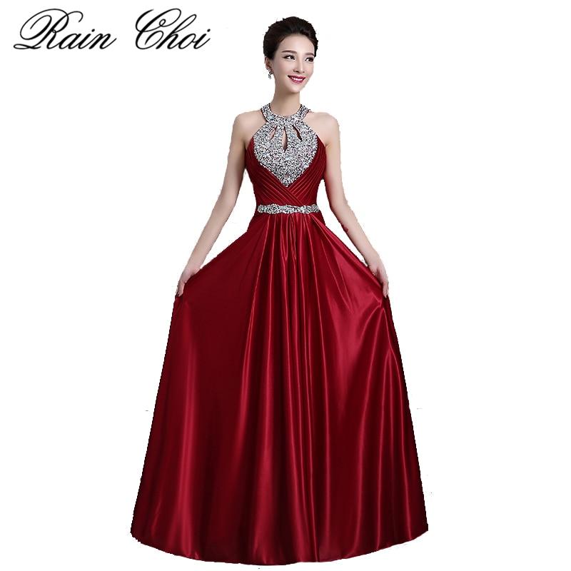Weinrot Prom Kleider 2019 Frauen Elegante Lange Formale Party Kleid Sexy Backless Perlen Abendkleider