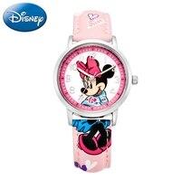 Genuine Disney Brand Mickey Minnie Cartoon Quartz Fashion Child Watches Kid Simple Lovely Watch For Girl Boy Gift Box Time Clock