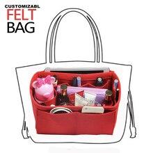 [Keepall 45 50 55 60] Felt Tote Organizer (w/ Milk Water Bottle Holder)Purse Insert Bag in Cosmetic Makeup Diaper Handbag