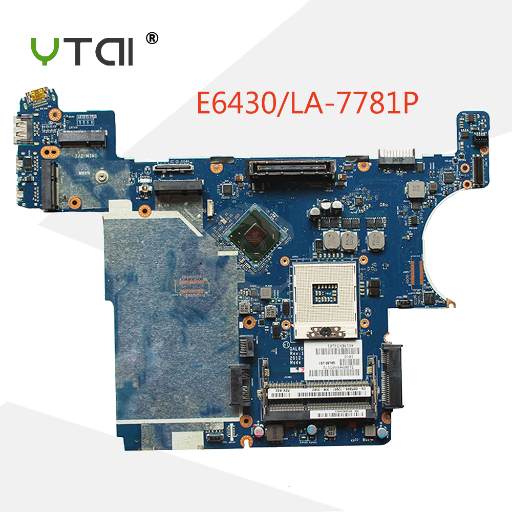 YTAI QAL80 LA-7781P mainboard For Dell Latitude E6430 laptop motherboard QM77 LA-7781P BR-0XP7NX mainboard fully tested 11 1v 97wh korea cell new m5y0x laptop battery for dell latitude e6420 e6520 e5420 e5520 e6430 71r31 nhxvw t54fj 9cell