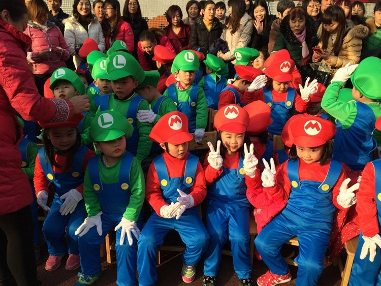 Funy Cosplay Kostum Super Mario Luigi Brothers Fancy Dress Up Pesta - Kostum - Foto 4