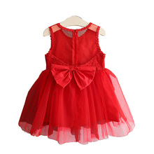 2019New Kids Dresses For Girls Princess Dress For wedding party Sleeveless Lace Children Baby Girl Clothes Red White 2T-6T girl dress princess christmas lace kids christening events party wear dresses for girls children baby red clothes ad 1667