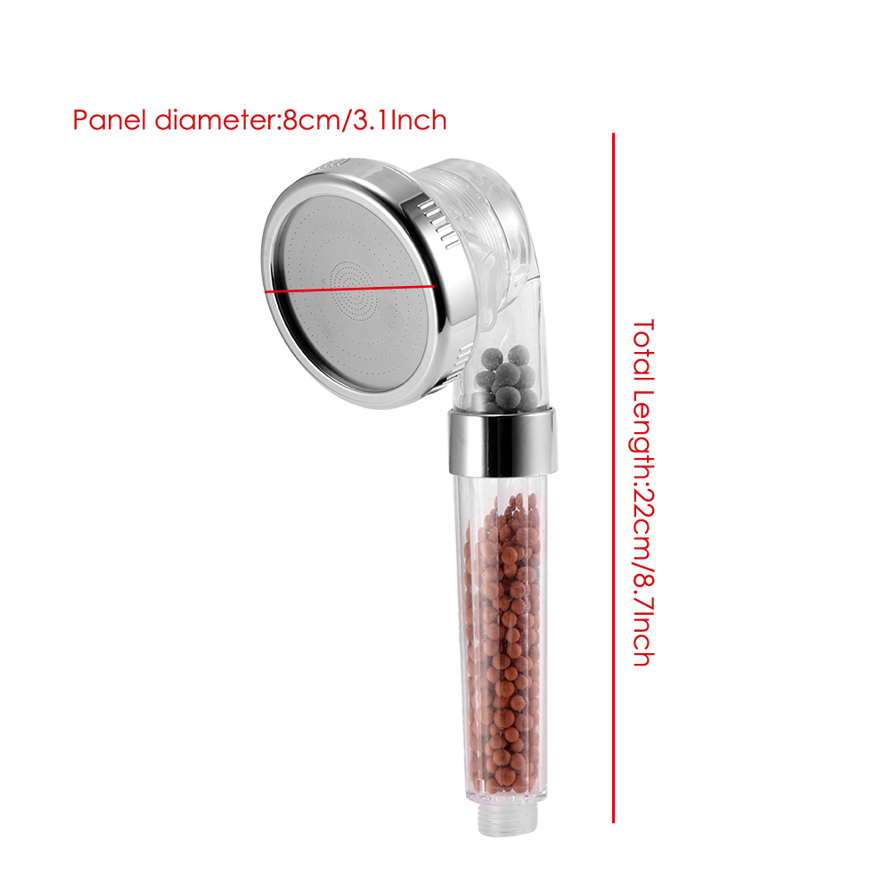 Detachable High Pressure Handheld 3 Mode Shower Head - With Water Saving Ionic Filtration Showerhead for Dry Skin and Hair