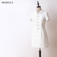 New the shelves beauty lay his small perfume wind classic black white fashion doll show thin dress with short sleeves