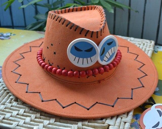Японские Аниме ONE PIECE ACE Hat Cap Косплей Оранжевый