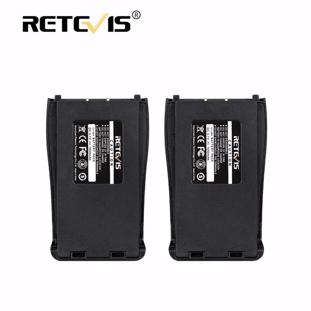 2 pcs Nouveau Retevis 1000 mAh Li-ion Batterie DC 3.7 V Pour Baofeng Bf-888S BF888S 888 S Talkie Walkie Retevis H-777 H777 Accumulateurs