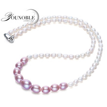 Real Choker Freshwaterwater Pearl Necklace For Women,white Gradient Small Pearl Necklace Girl Birthday Gift keshi women gift word love real genuine 10 11mm white pearl necklace bracelet earring sets choker