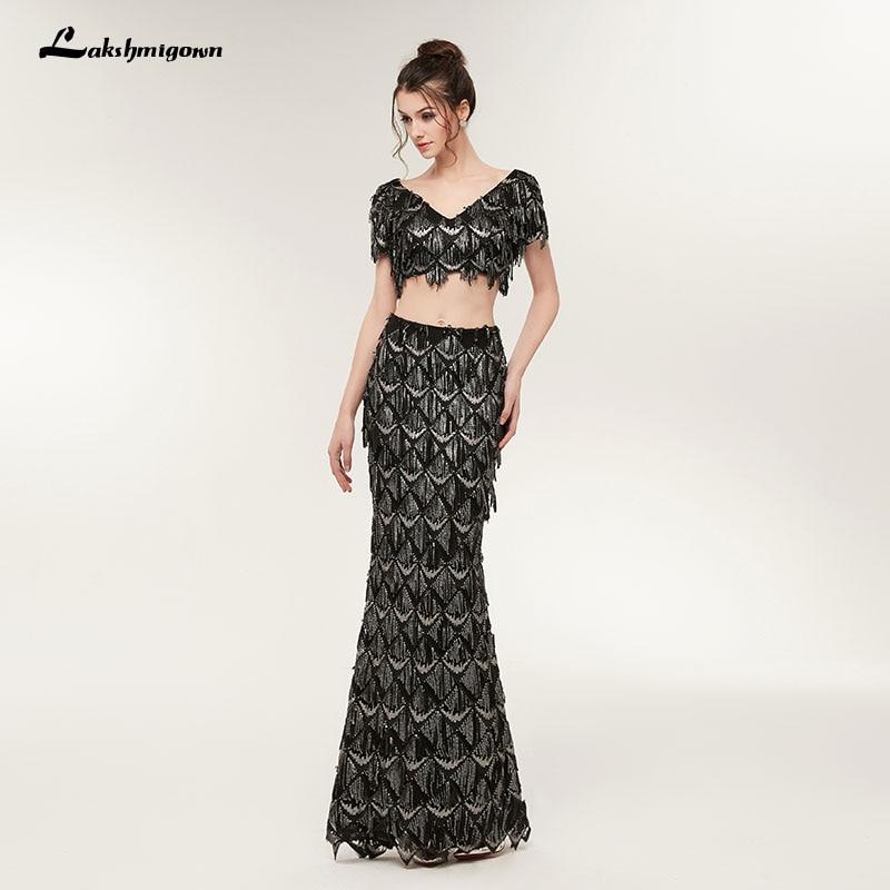 वी गर्दन Sequined मत्स्यस्त्री - विशेष अवसरों के लिए ड्रेस