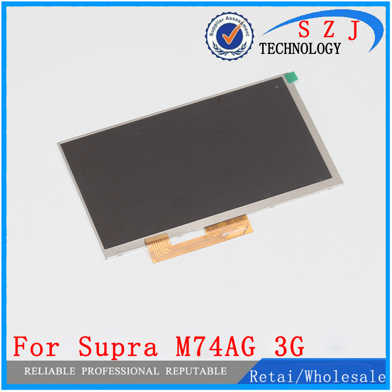New 7'' inch LCD Display Matrix For Supra M74AG 3G TABLET LCD Screen Panel Lens Frame Module replacement Free Shipping new lcd display for 7 85 inch flylife connect 7 85 3g 2 tablet lcd screen matrix replacement panel free shipping