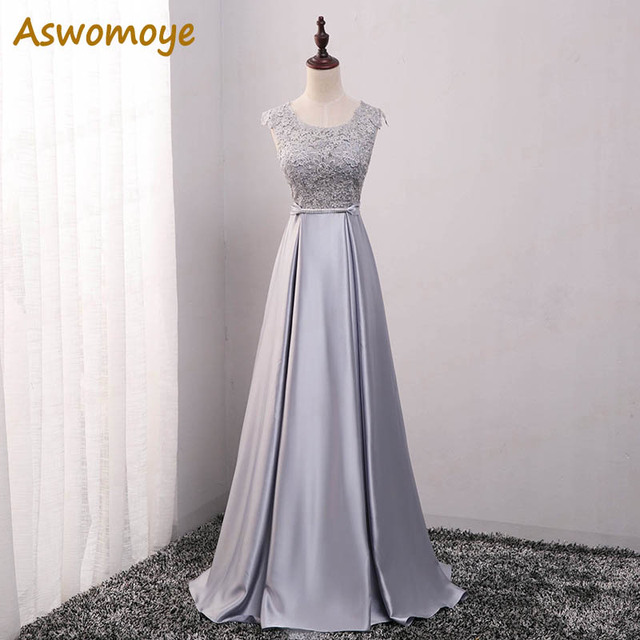 Elegant Evening Dress Long 2020 Appliques Banquet Party Dress Stunning Satin Prom Dresses Robe De Soiree vestido de festa