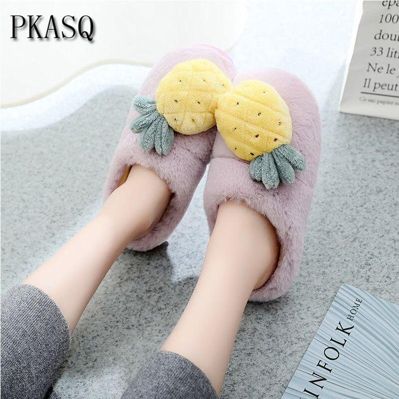 Zapatillas de casa hombre mujer divertidas costura pantuflas invierno algodón