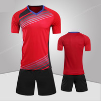 2017 New Polyester Boys Men Football Jerseys Set Blank Soccer Uniforms Kids Team Training Suits Quick