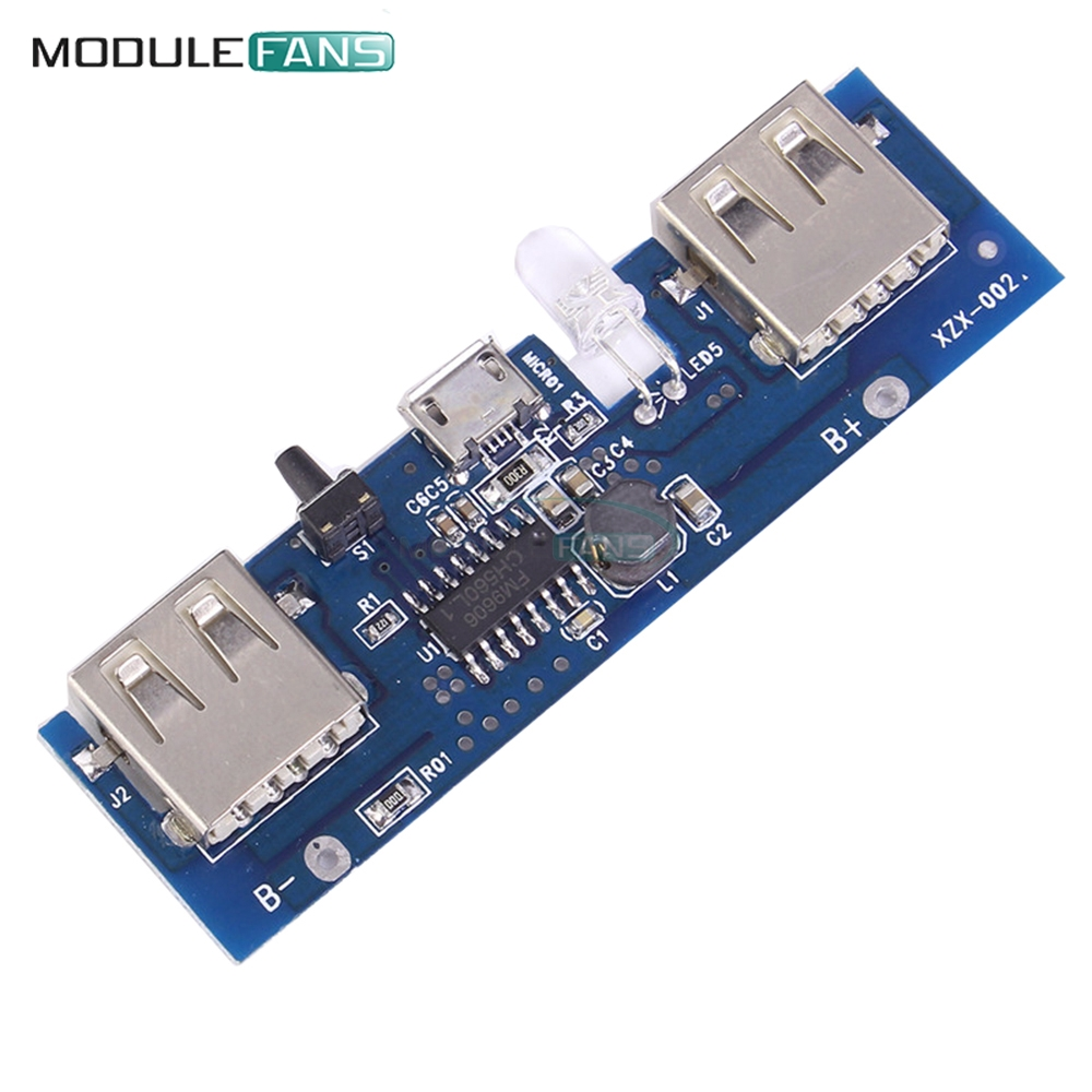 5v 2a Power Bank Charger Module Charging Circuit Board Step Up Boost Usb And Adapter Free Electronic Circuits 5 1a Mobile Control Micro Lithium Battery