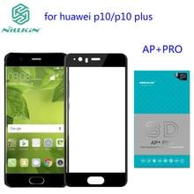 Huawei p10 экран протектор nillkin 3d ap + pro 0.23 мм 9 h анти-взрыв мягкий край полное покрытие из закаленного стекла для huawei p10 плюс