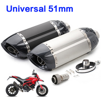 Universal 51mm Motorcycle muffler exhaust pipe modified escape moto devil mivv exhaust with db killer for cb1000r gsr650 rsv4