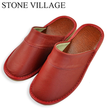 Women Slippers Sandals Summer Shoes Stone Village Flat Casual Lady Indoor
