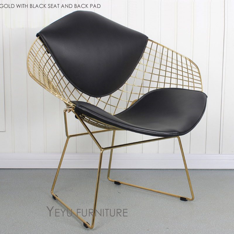 Astonishing Us 269 0 Rose Gold Or Gold Color Modern Design Harry Bertoia Diamond Wire Chair Diamond Metal Steel Padded Wire Chair Loft Chair 1 Pc In Dining Ocoug Best Dining Table And Chair Ideas Images Ocougorg