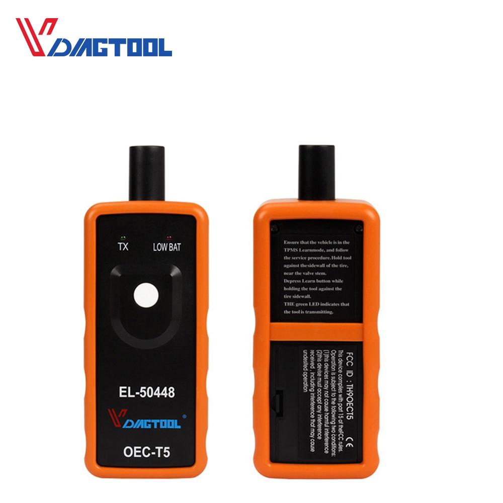 VDIAGTOOL EL50448 Tire Presure Monitor Sensor EL 50449 OEC-T5 For G-M/for Opel TPMS Reset Tool EL-50448 Auto Diagnostic Tool