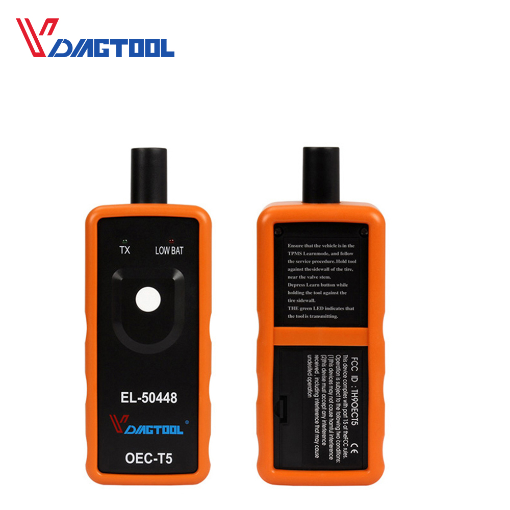 VDIAGTOOL EL50448 Reifen Presure Monitor Sensor EL 50449 OEC-T5 Für G-M/für Opel TPMS Reset Tool EL-50448 Auto Diagnose werkzeug
