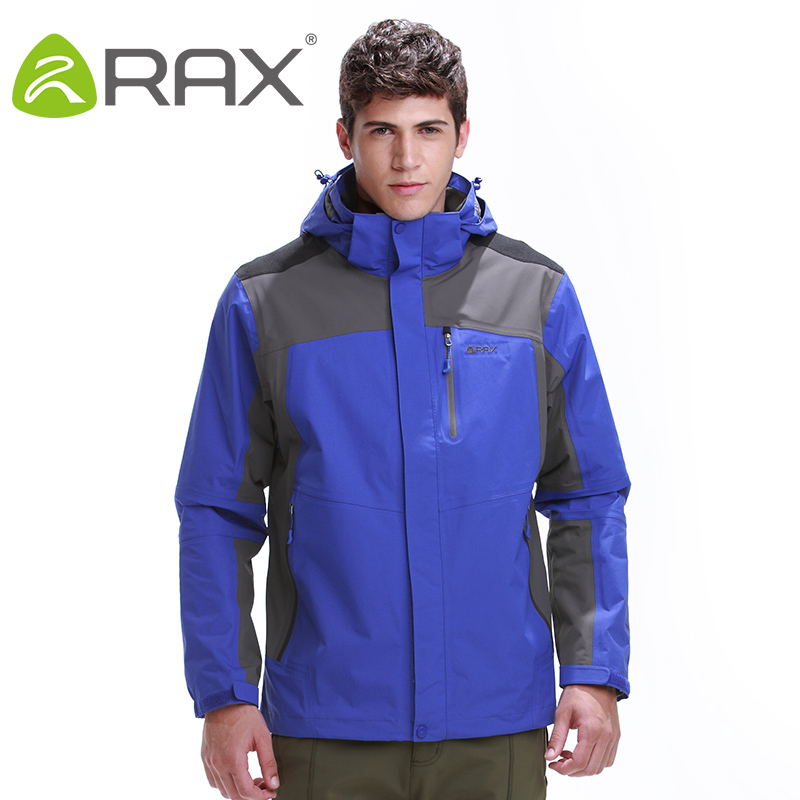 Rax Waterproof Hiking Jackets Men Waterproof Windproof Warm Hiking Jackets Winter Outdoor Camping Jackets Thermal Coat 44-1A029