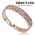 Top Quality Small Star Love  Rose/White Gold Plated Bangle Jewelry Austrian Crystals Wholesale B012 B013 B042