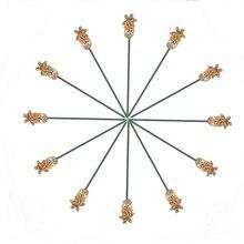 """12 шт палочки для мартини с амулеты """"Ананас"""", Коктейльные Палочки, металлический набор из нержавеющей стали 12"""