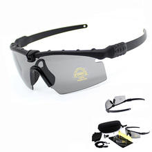 Tactical Polarized Glasses Military Paintball Shooting Airsoft Goggles Army