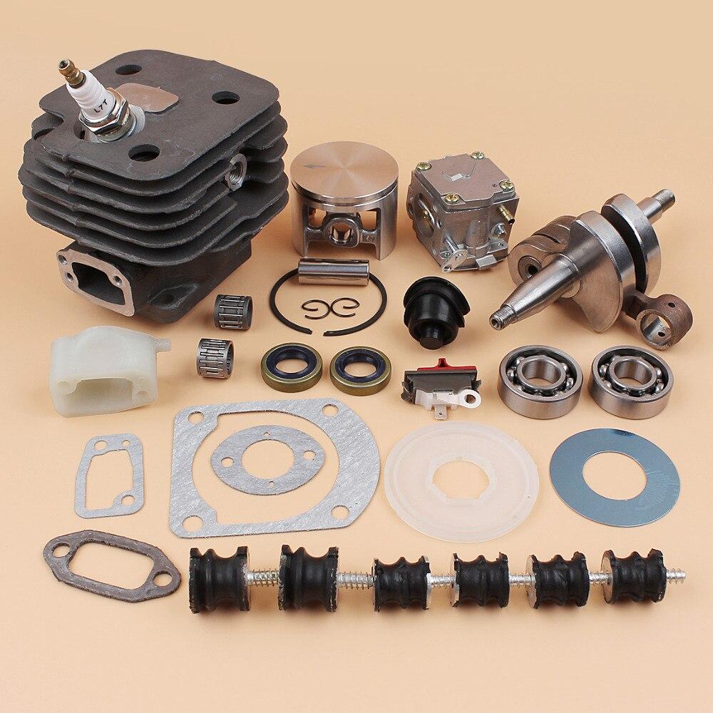 52 мм цилиндр поршневой Карбюратор Carb изолятор буферное крепление комплект ПОДХОДИТ HUSQVARNA 61 268 272 272XP бензопилы запасные части двигателя