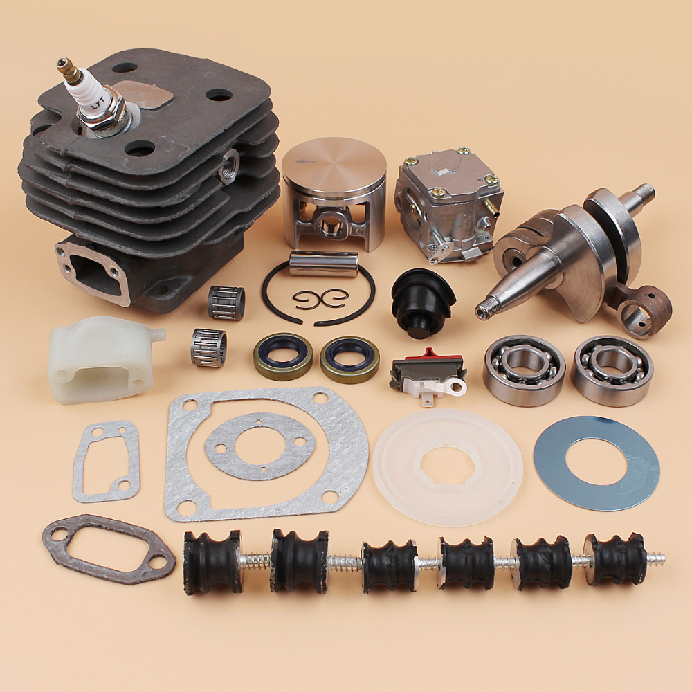 52MM Cylinder Piston Carburetor Carb Isolater Buffer Mount Kit Fit HUSQVARNA 61 268 272 272XP Chainsaws Engine Spare Parts