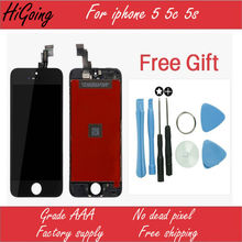 Guarantee A Display for Iphone 5 5S 5C LCD Touch Screen Digitizer Assembly Tools With Original
