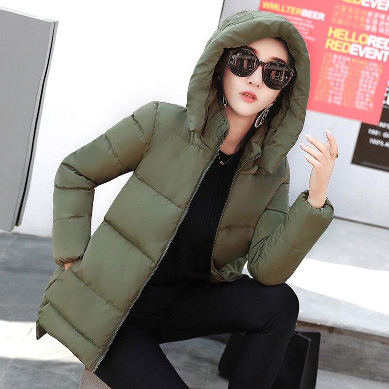 2018 Green red sky Black army Manteau Longue black Épais Blue De Femmes Coton Kj418 Coréenne Parka Femelle Veste print Ayunsue White Print Le Noir Mode Vêtements Hiver Bas Sobretudo Vers TCpqSf