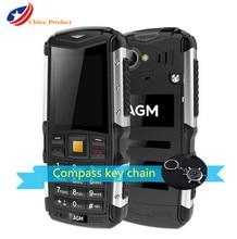 "(24 Horas de Envío) AGM M1 IP68 Impermeable 2570 mAh 2.0 ""3G Teléfono Móvil 2.0MP personas Mayores de Teléfono de Doble SIM Doble Modo de Espera Al Aire Libre"