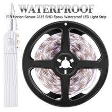 PIR Motion Sensor LED Strip Light 12V Flexiable Neon Ribbon Led Lamp Tape SMD2835 Under Closet Stairs Cabinet Lights For Kitchen недорого