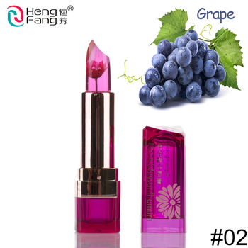 hengfang waterproof flower Lipstick beauty moisturizing cosmetic magic Temperature-changed jelly Lip stick long lasting Lip balm
