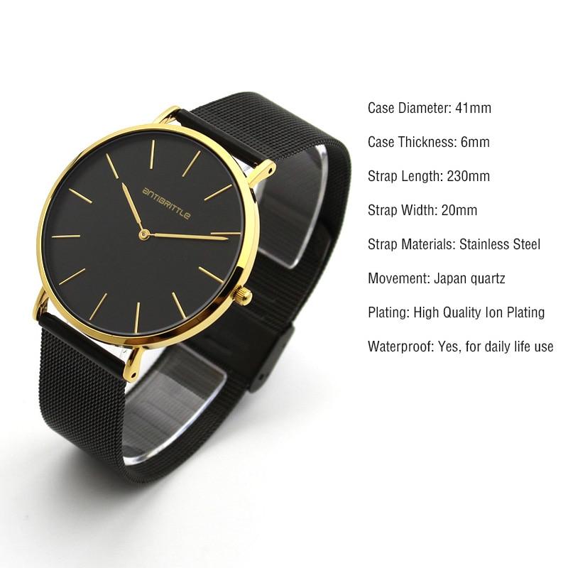 zegarki meskie simple Ultrathin 2017 Men Watches Top Brand Luxury 2 hands stainless steel casual Quartz Watch gold Clock Relojes
