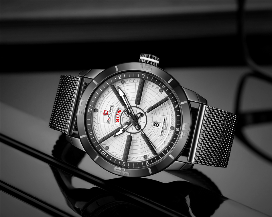 NAVIFORCE Mens Watches Top Brand Luxury Quartz Watch Men Full Steel Men Watch Sport Fashion Business Watches Relogio Masculino 26