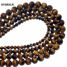 Hot Sale Natural Stone Yellow Tiger Eye Beads 15 Strand 4 MM 6 MM 8 MM 10 MM 12 MM Pick Size For Jewelry DIY Bracelet Necklace цена