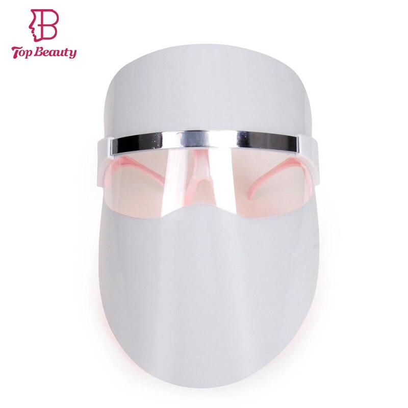 Топ красоты мини LED красный свет фотон омоложение лица маска акне пятна лечения поры сокращения Уход за кожей Красота инструмент Маски для в...