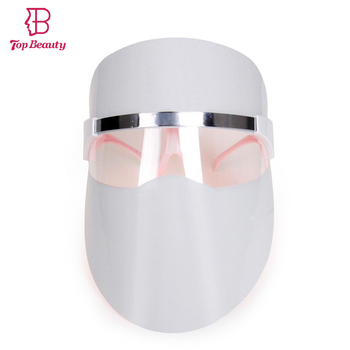 TOP BEAUTY Mini LED Red Light Photon Facial Rejuvenation Mask Acne Spots Treatment Pores Shrink Skin Care Beauty Tool Masks