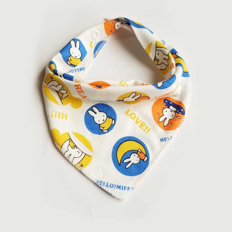 신생아 베이비 턱받이 코튼 반다나 턱받이 유아 유아용 슬래버 베이비 턱받이 만화 점심 먹이 턱받이 방수 타액 아기 용품 베이비