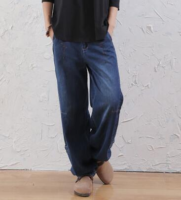 77d0f0d5ba081 Bloomers pants for women plus size cotton loose high waist jeans casual  autumn spring winter new fashion female trousers awi0603-in Jeans from  Women s ...