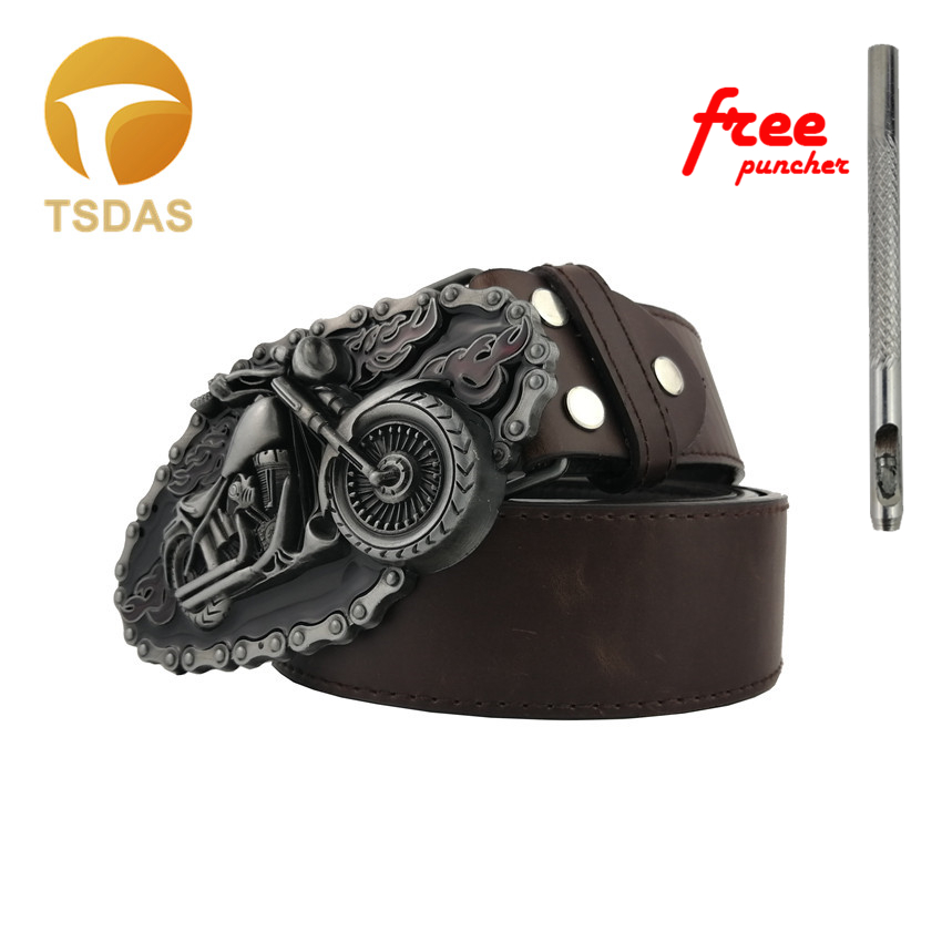 Mens Luxury Cowboys Belt Buckle With Silver Plating Metal Motorcycle Belt Buckles New Year Gifts