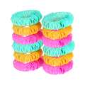 12pcs/set Beauty Spiral Ringlets Circle Accessories Magic Bendy Lucky Donuts Curly Roller DIY Desgin Plastic Hair Styling Tools