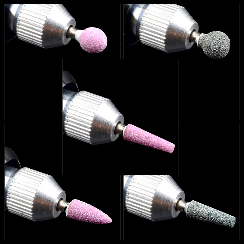 1pcs Silicone Ceramic Cutter Nails Drill Bits Files Grinding Nail Polish Rotary Burr Cuticle Manicure Accessories Tools in Electric Manicure Drills from Beauty Health