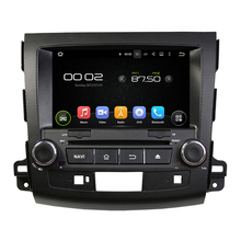 Android 2 Din Car DVD for Mitsubishi Outlander 2007-2012 with Mirror Link auto multimedia Stereo GPS Navigation Wifi