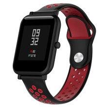 18 20 20MM Silicone Wristband belt For Huami Amazfit Bip Watchband Wrist Strap Bracelet Huawei Watch 2/Samsung Gear Sport