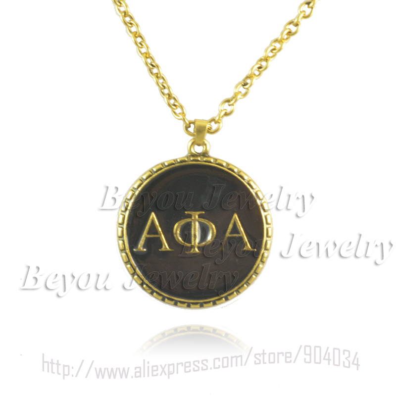 Greek Fraternity alpha phi alpha symbols Jewelry necklace