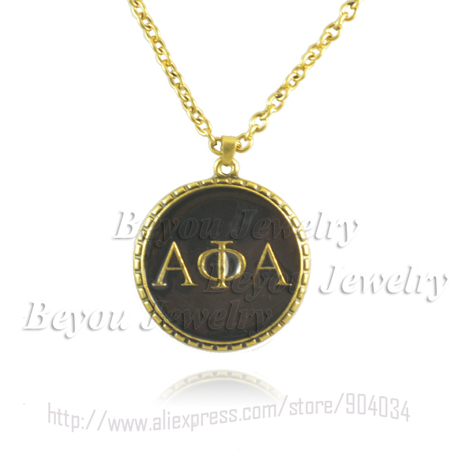 Greek Fraternity Alpha Phi Alpha Symbols Jewelry Necklace In