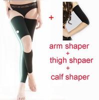 2015 New Hot Women Super Stretch Body Training Corset Female Sliming Shapers Arm Shaper Thigh Shaper