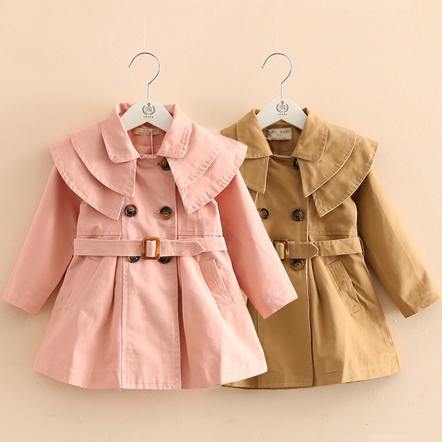 52fa9c7466b3 Little Girl Coats Fall Baby Girl Coat Fashion 2019 Kids Trench Coat ...